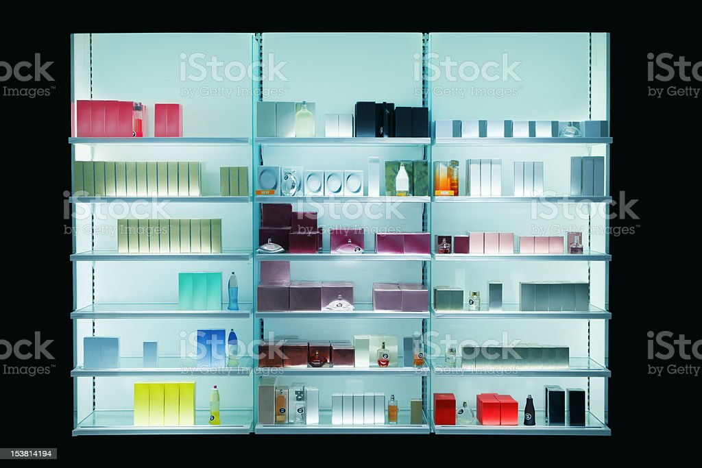 Perfume shop stock photo