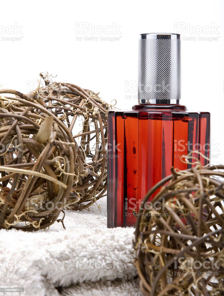 Perfume with decorations royalty-free stock photo