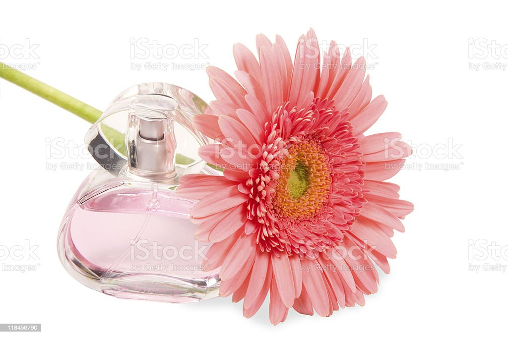 Perfumes and flower royalty-free stock photo