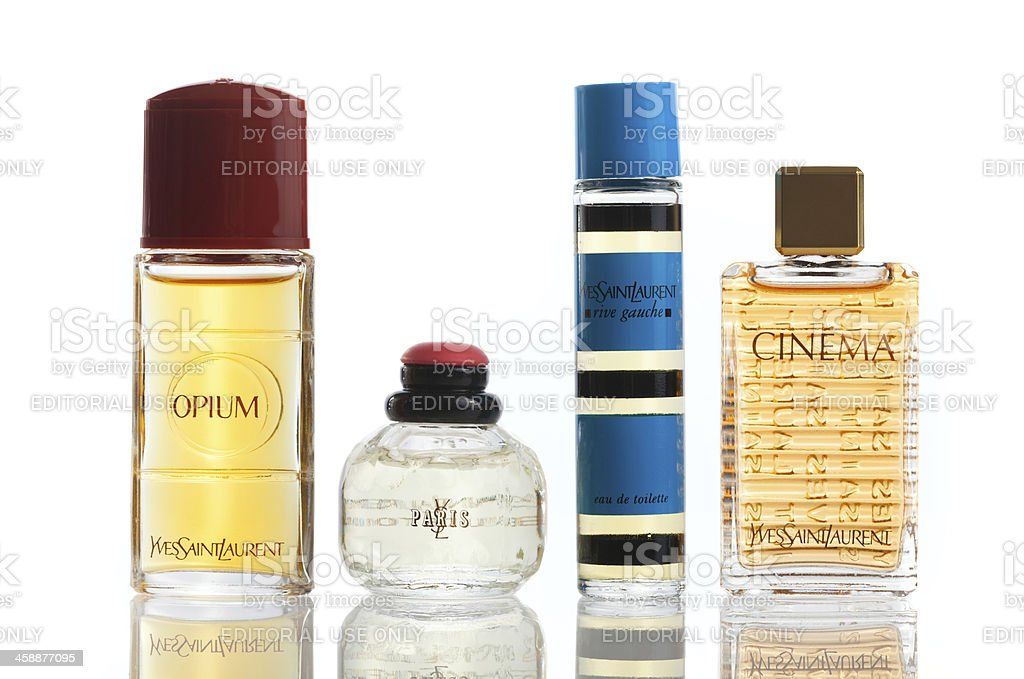 Perfumes By Yves Saint Laurent royalty-free stock photo