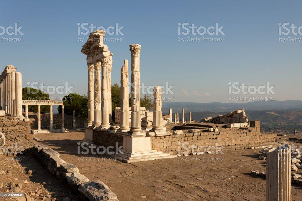 Pergamon Acropolis - Izmir TURKEY stock photo