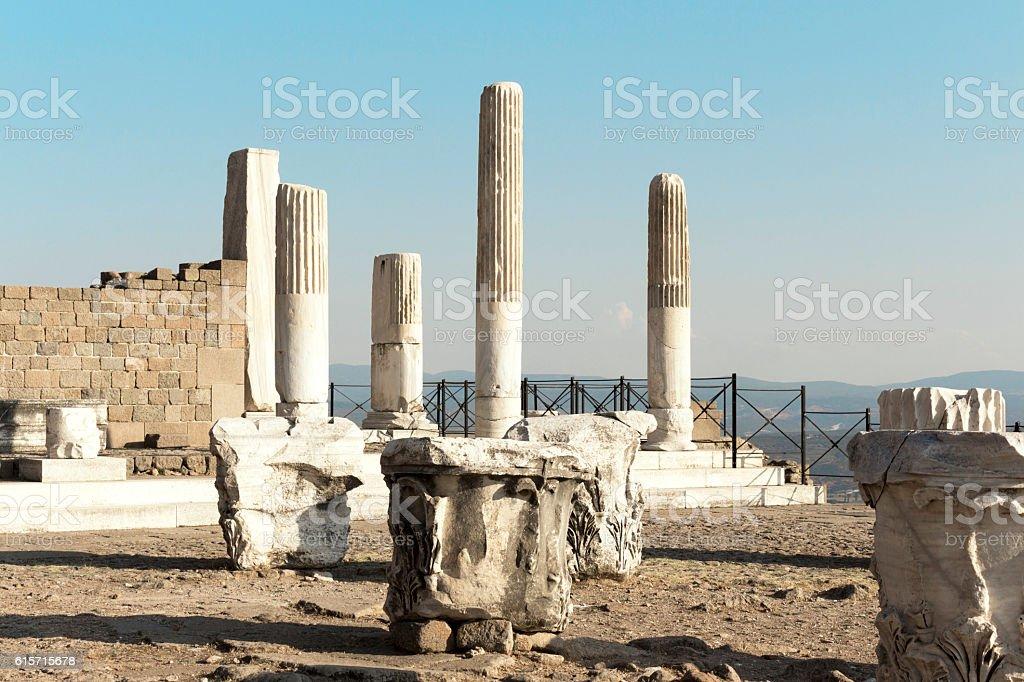 Pergamon Acropolis stock photo