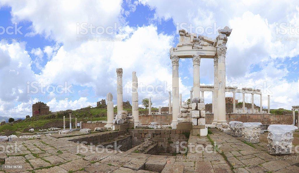 "Pergamum-Turkey ""Temple of Trajan"" stock photo"