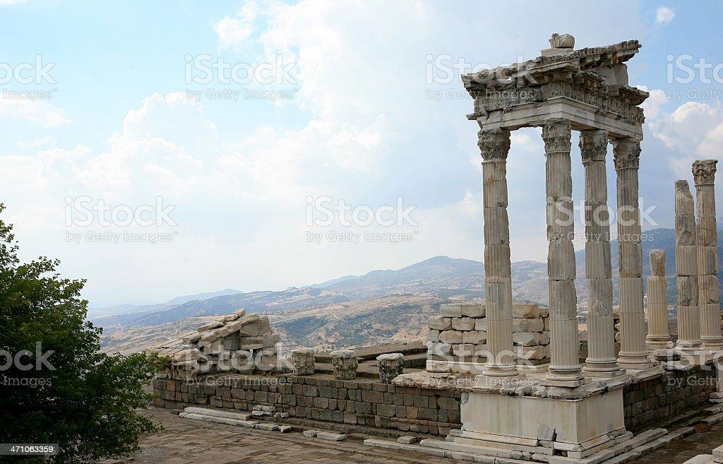 Pergamum-Turkey ' Temple of Trajan' stock photo