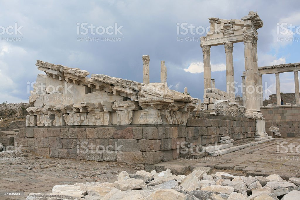 Pergamum-Turkey ' The Acropolis - Temple of Athena' stock photo