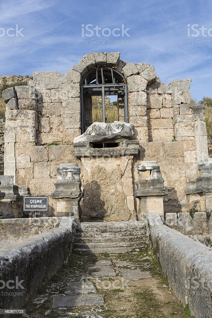 perge temple royalty-free stock photo