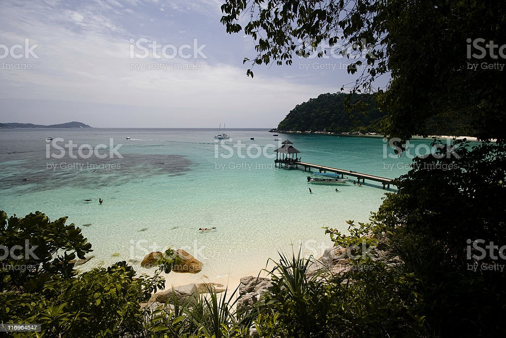 Perhentian Beach royalty-free stock photo
