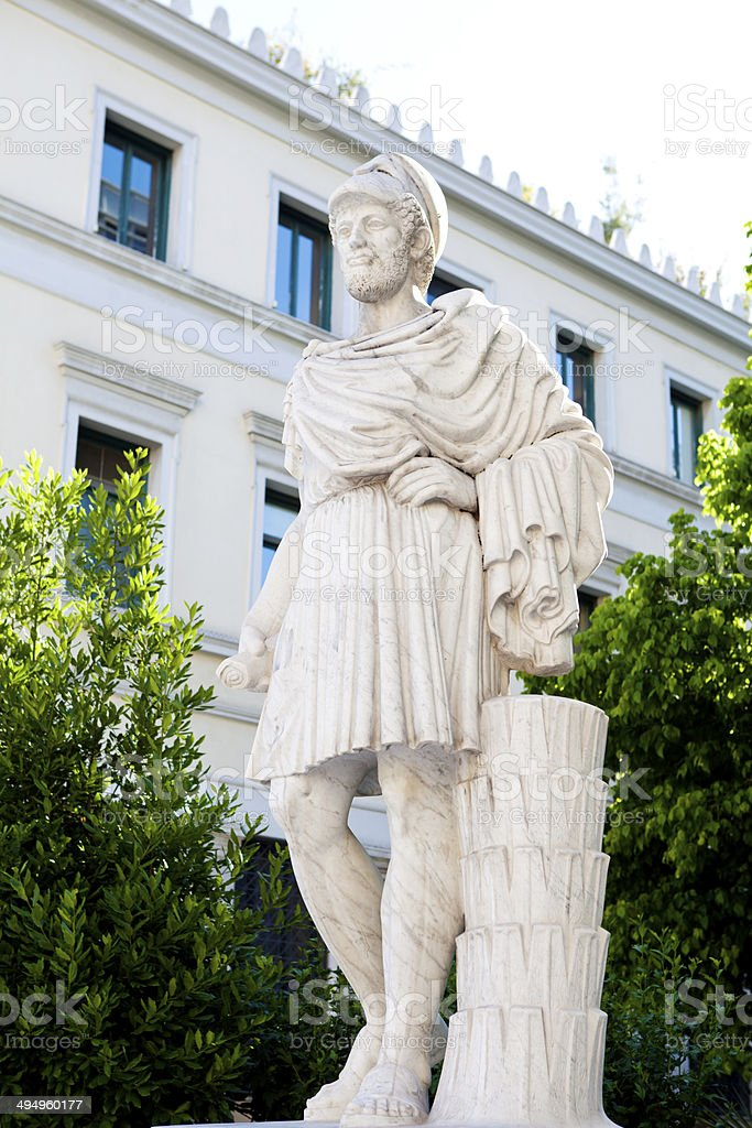 Pericles statue stock photo
