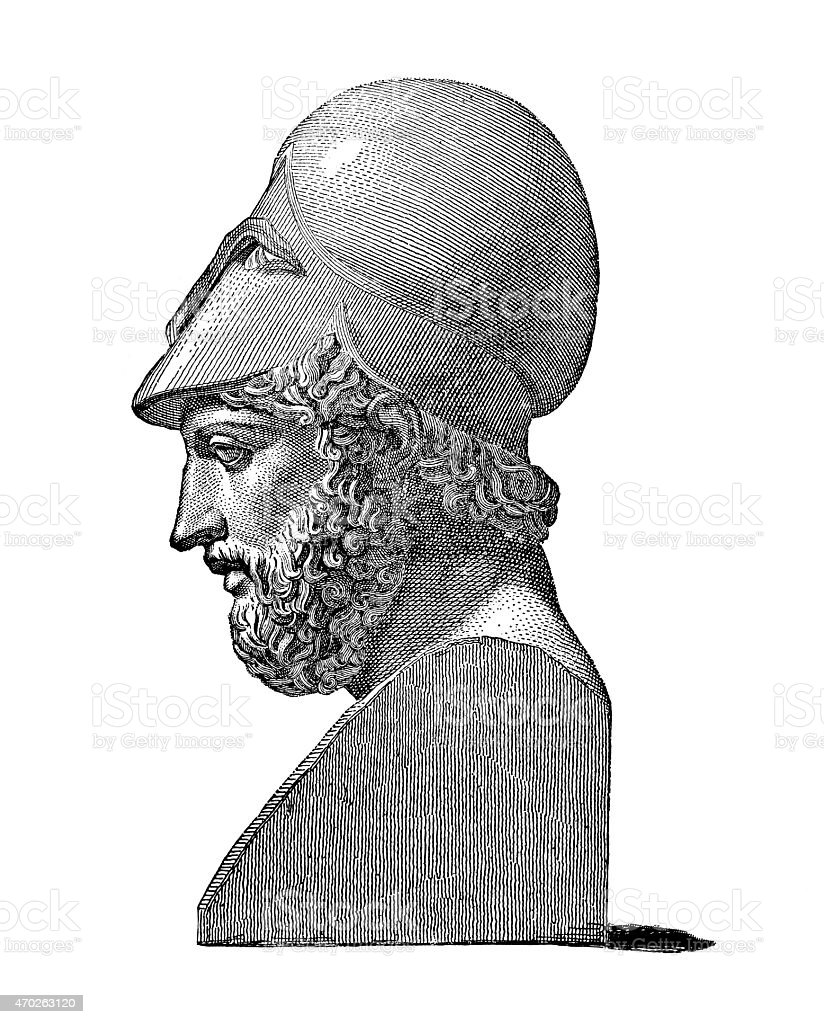 Pericles,the greatest statesman of ancient Greece stock photo