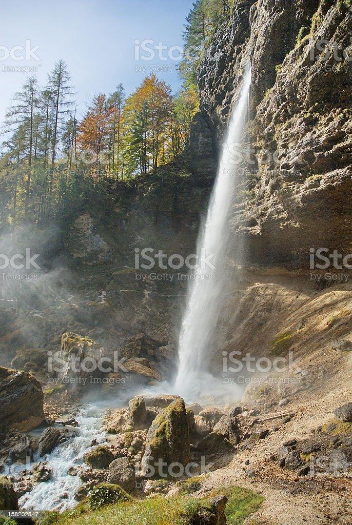Pericnik waterfall stock photo