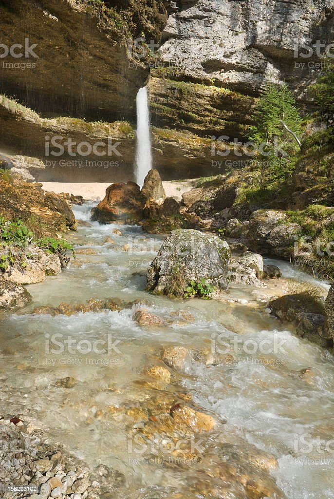 Pericnik waterfall royalty-free stock photo