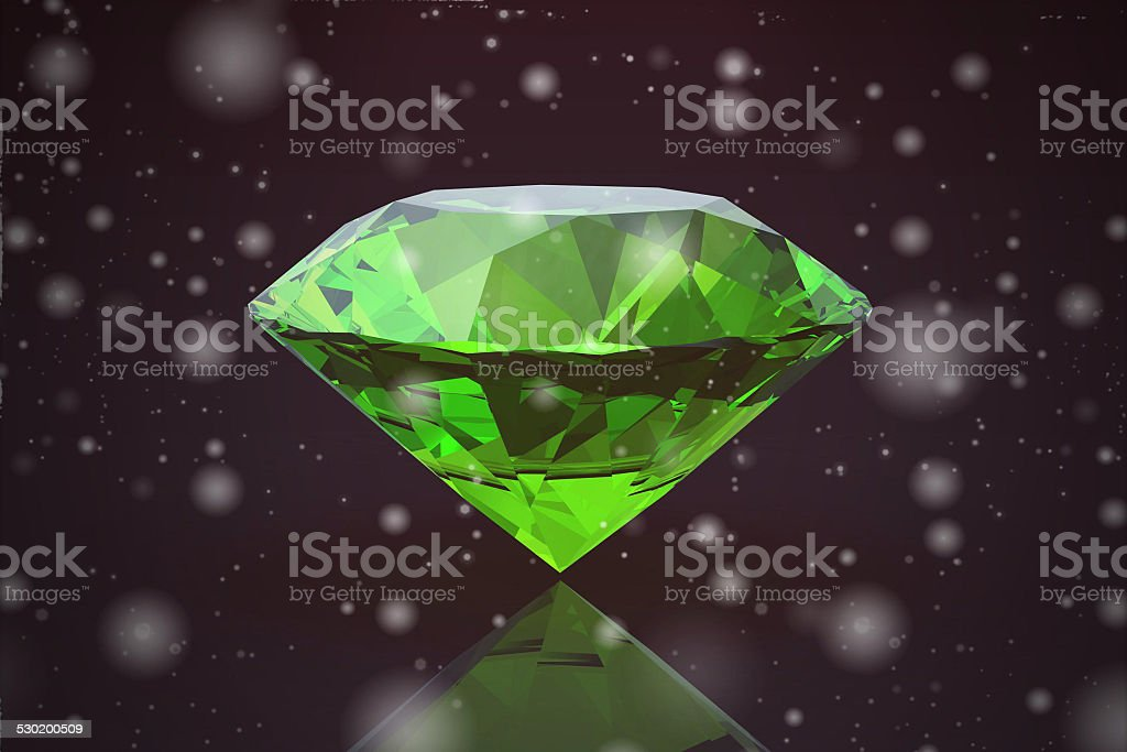 Peridot gem  on black background (high resolution 3D image) stock photo