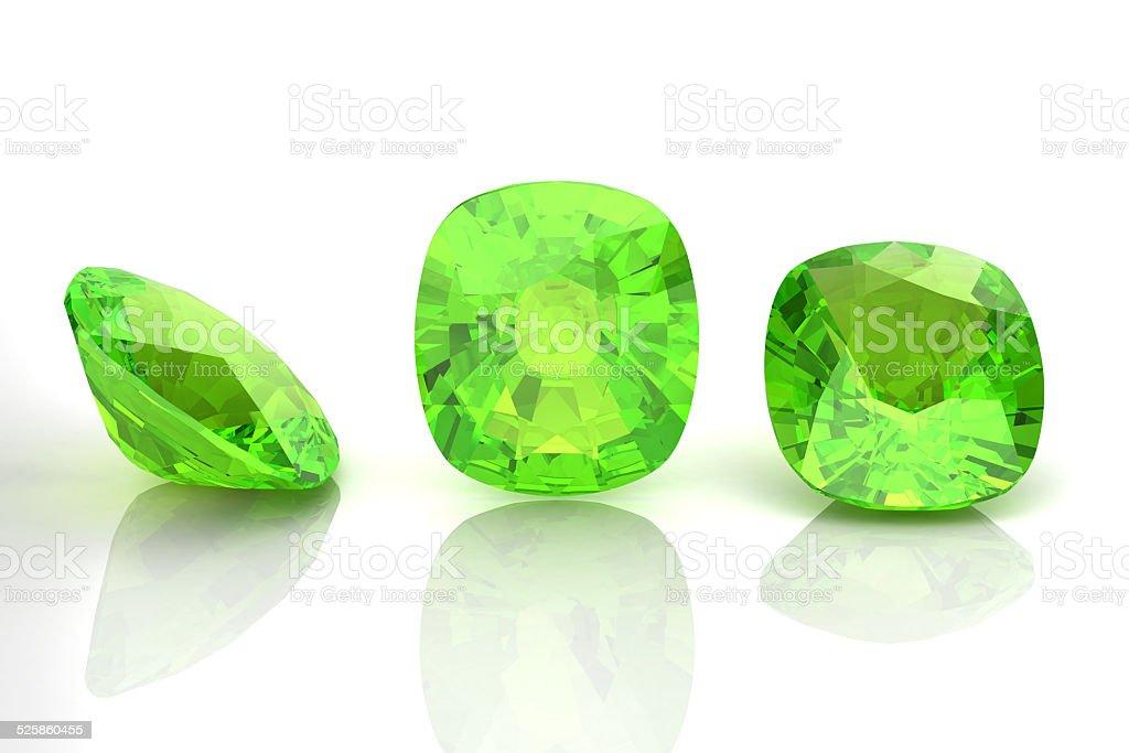 Peridot (high resolution 3D image) stock photo