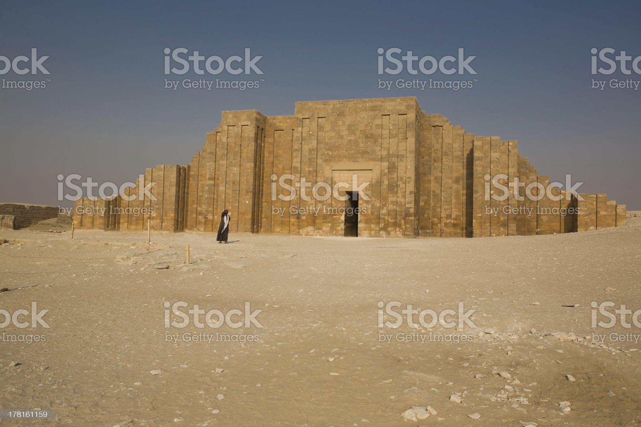 Perimeter Wall of The Step Pyramid royalty-free stock photo