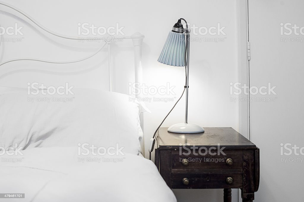 Period bedside stock photo
