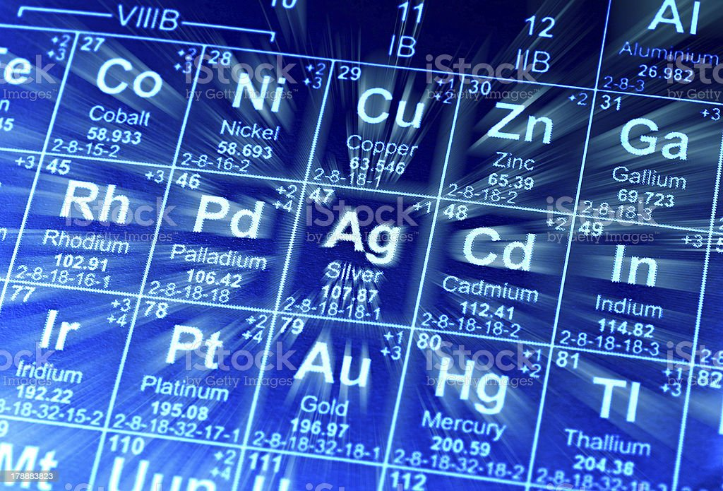 Periodic table of elements. royalty-free stock photo