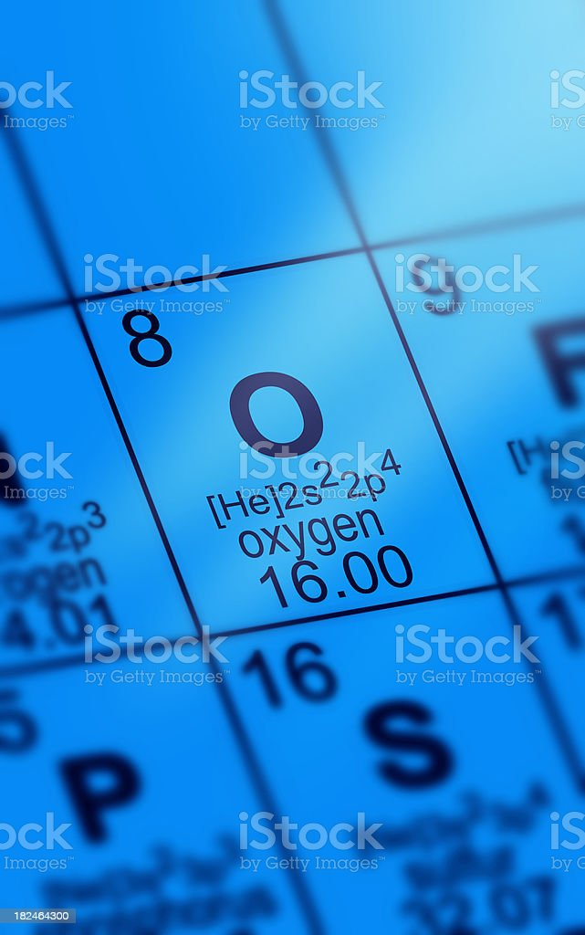 Periodic Table Oxygen royalty-free stock photo