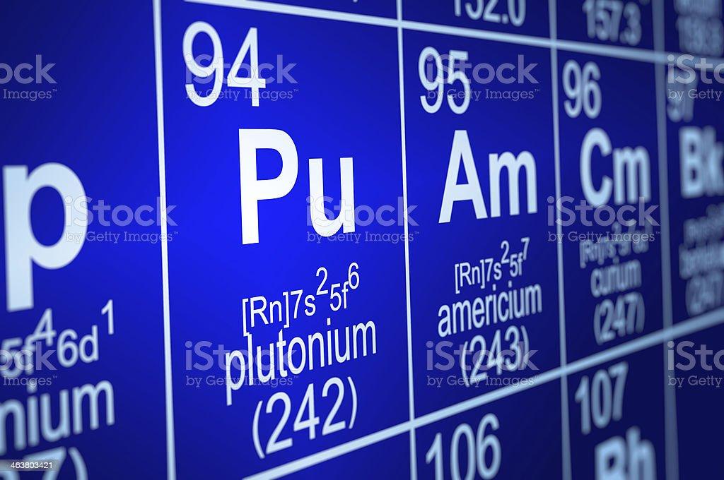 Periodic Table Plutonium royalty-free stock photo