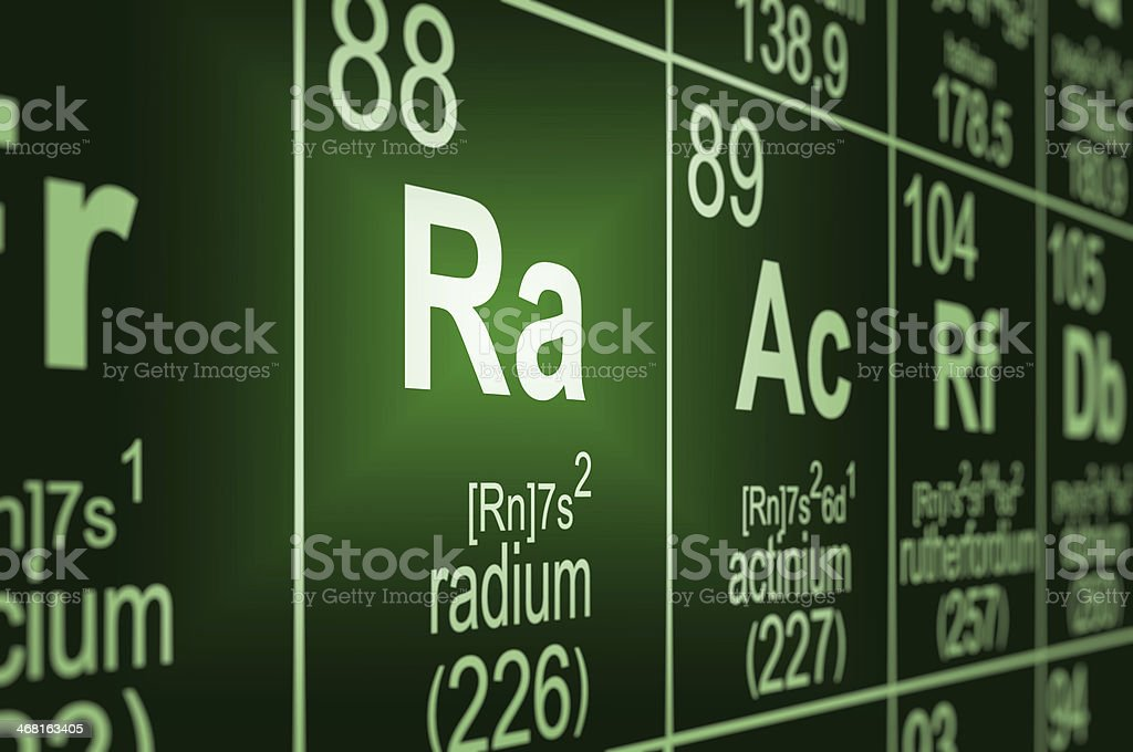 Periodic Table Radium stock photo