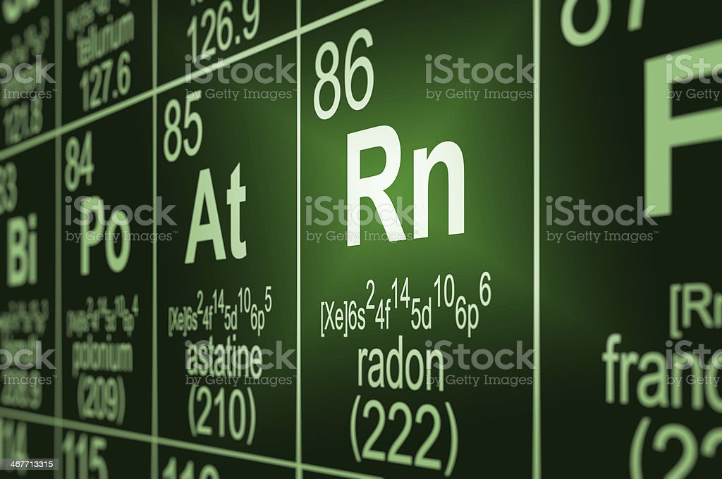 Periodic Table Radon stock photo
