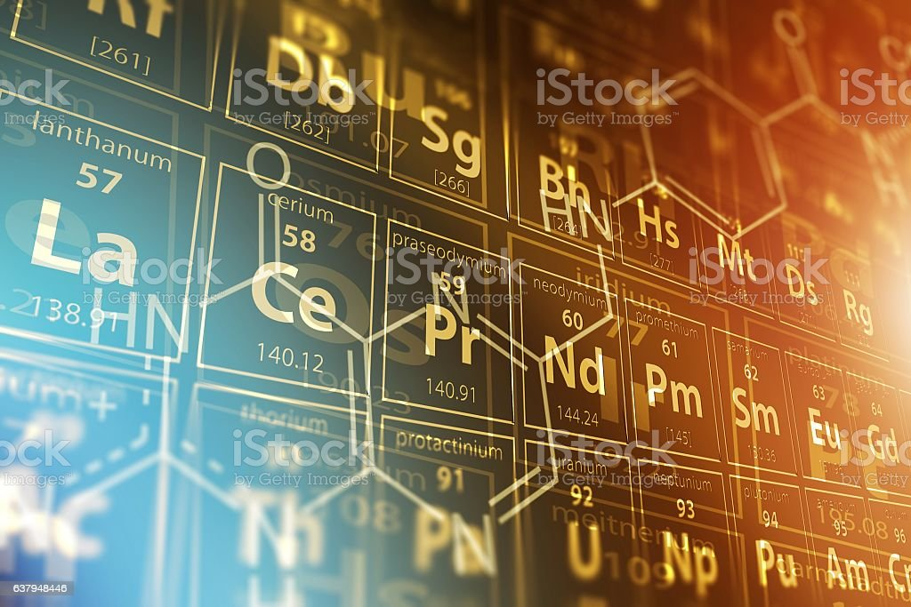 Periodic Table Science stock photo