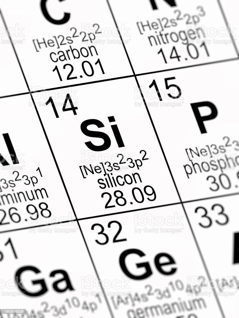 Periodic Table Silicon royalty-free stock photo
