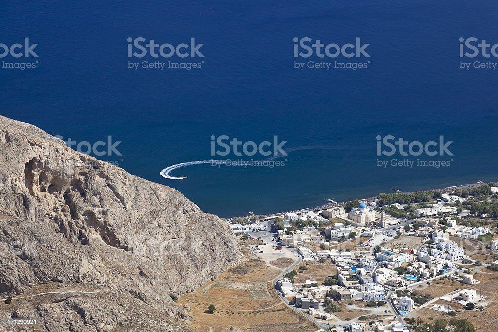 Perissa, Santorini royalty-free stock photo