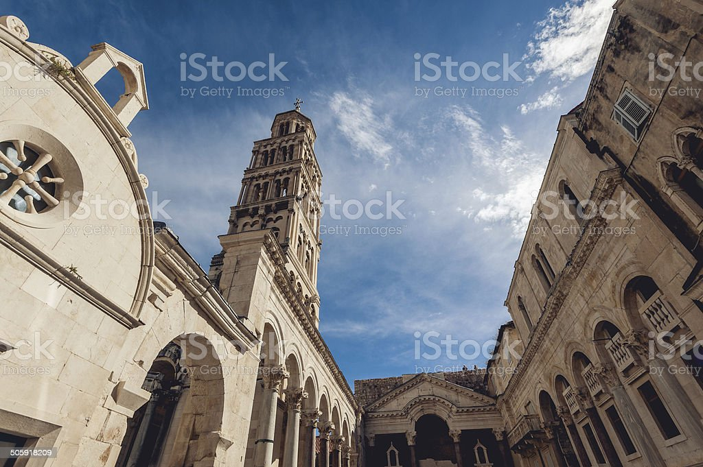 Peristil in Diocletian's Palace stock photo