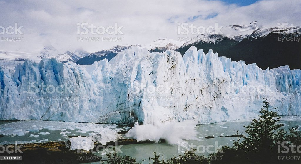 perito moreno blue glacier argentina royalty-free stock photo
