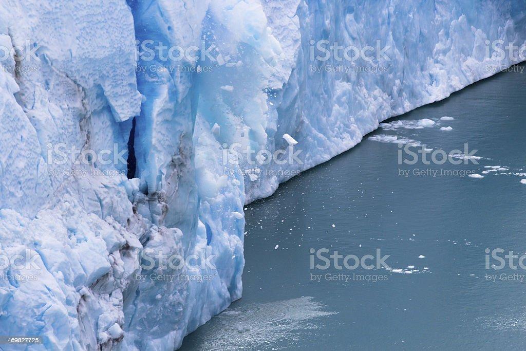 Perito Moreno - Falling down Glacier 01 royalty-free stock photo