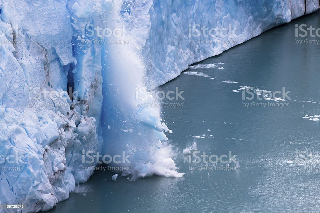 Perito Moreno - Falling down Glacier 03 stock photo