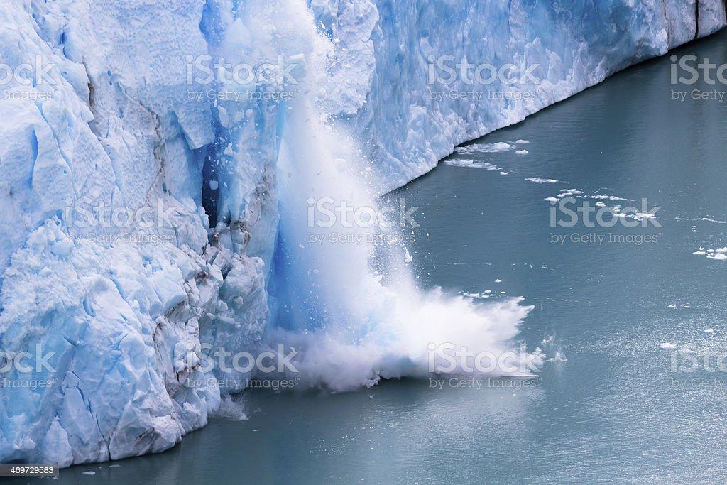 Perito Moreno - Falling down Glacier 04 royalty-free stock photo