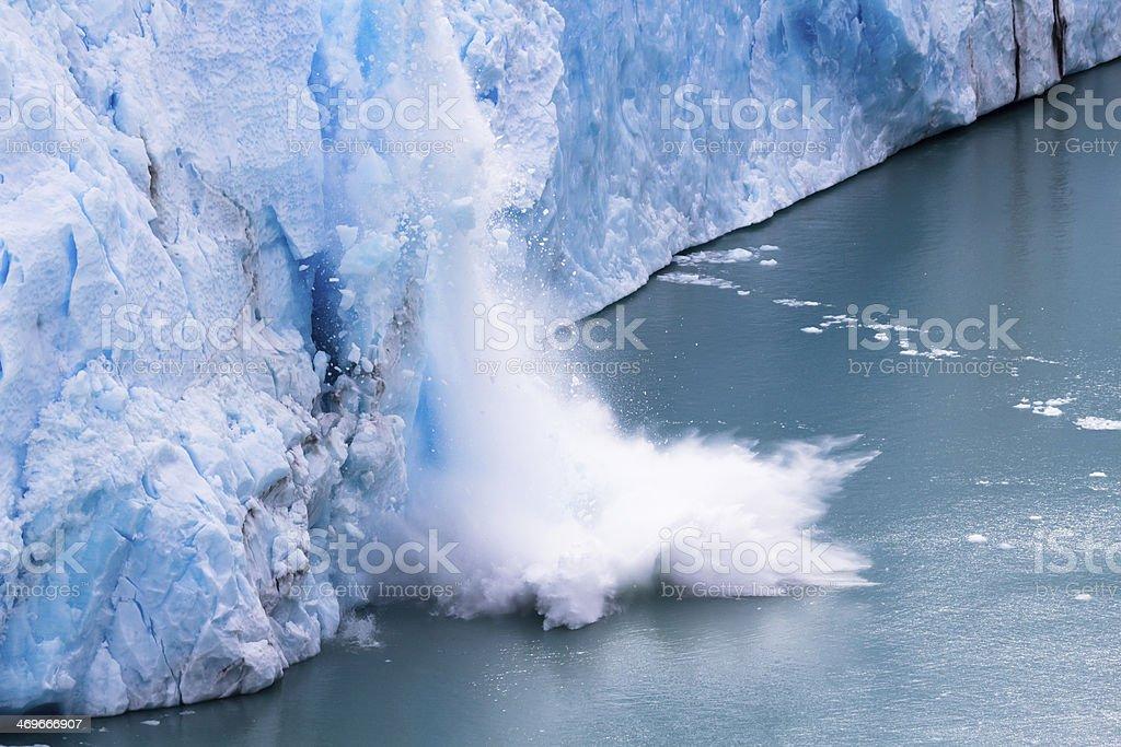 Perito Moreno - Falling down Glacier - 05 royalty-free stock photo