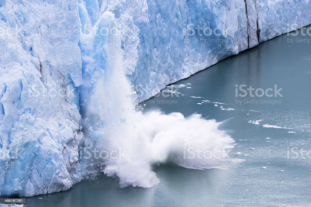 Perito Moreno - Falling down Glacier 07 stock photo