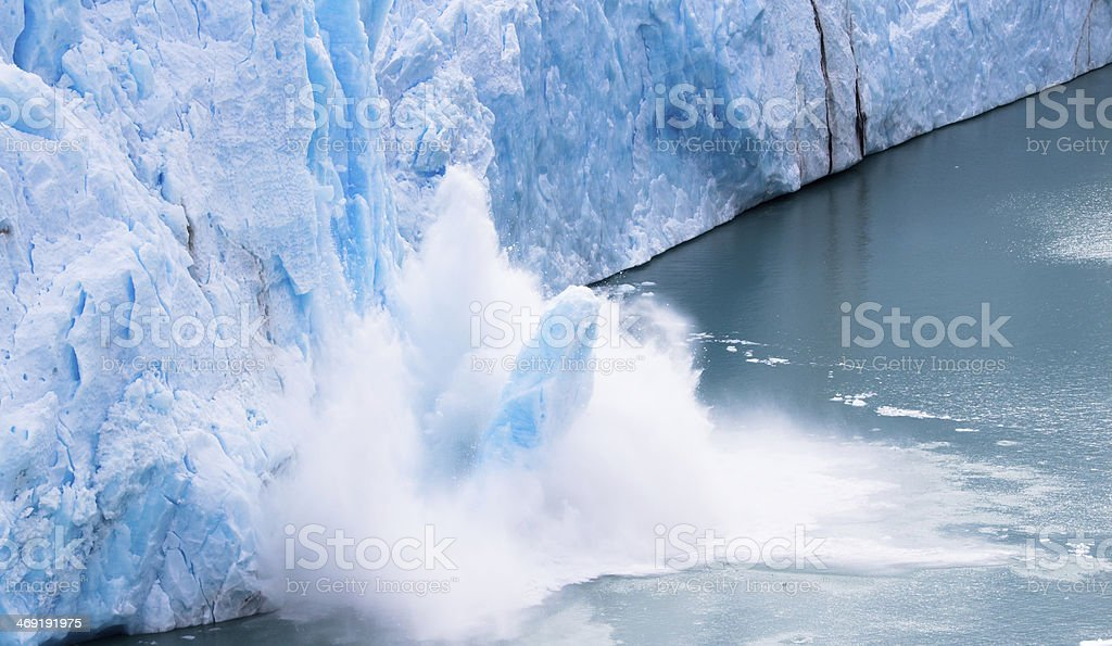 Perito Moreno - Falling down Glacier 10 stock photo