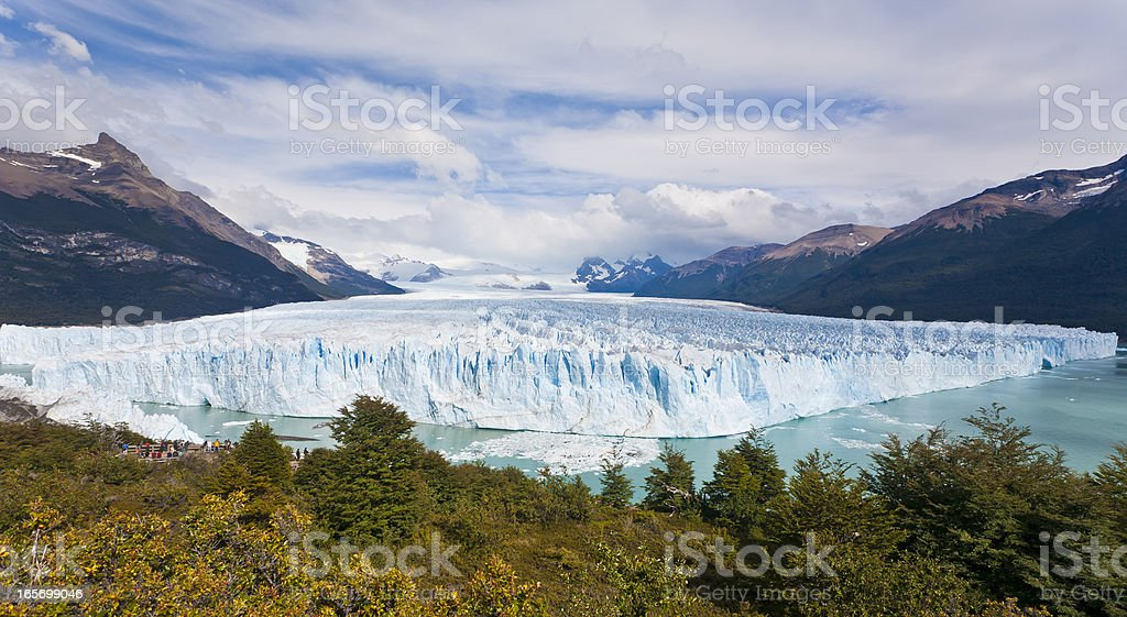 Perito Moreno Glaciar In Argentina stock photo