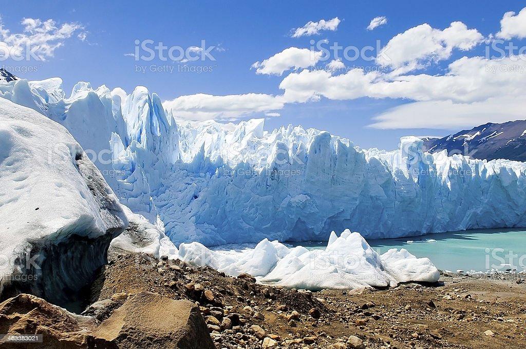 Perito Moreno Glacier in Argentina stock photo