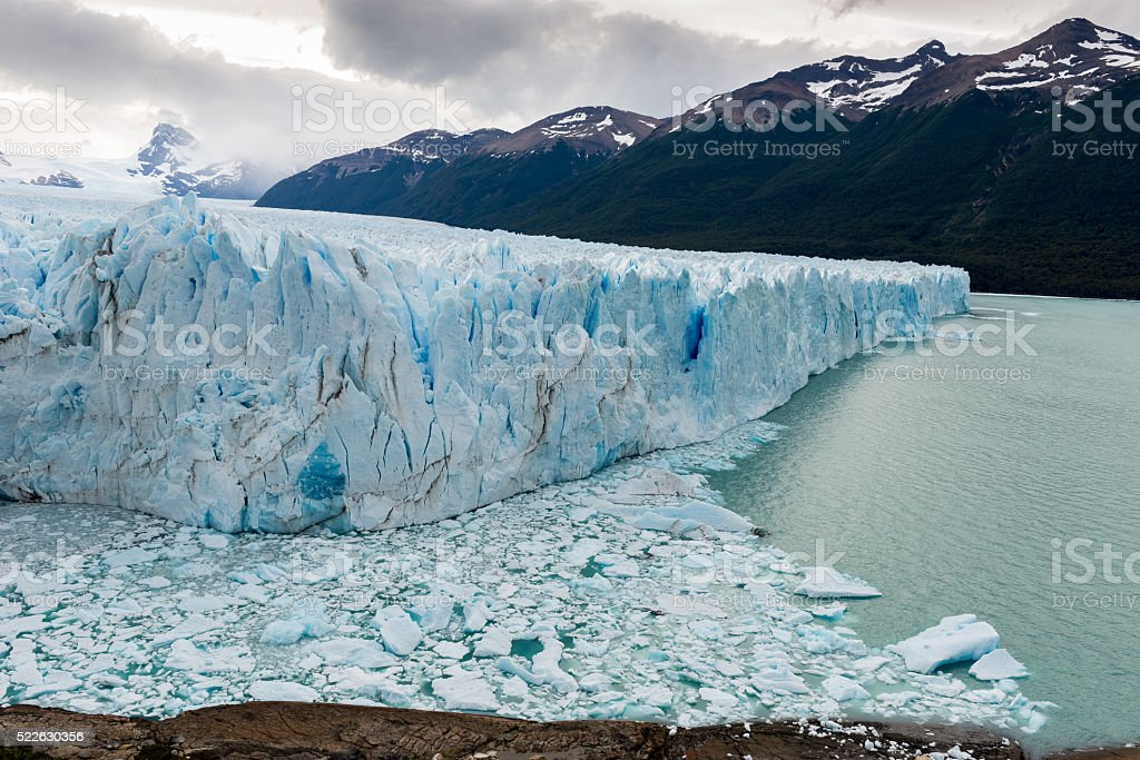 Perito Moreno glacier in Los Glaciares National Park, Argentina stock photo