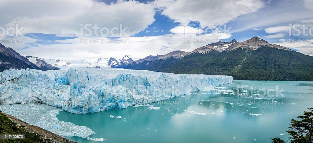 Perito Moreno Glacier in Patagonia - El Calafate, Argentina stock photo