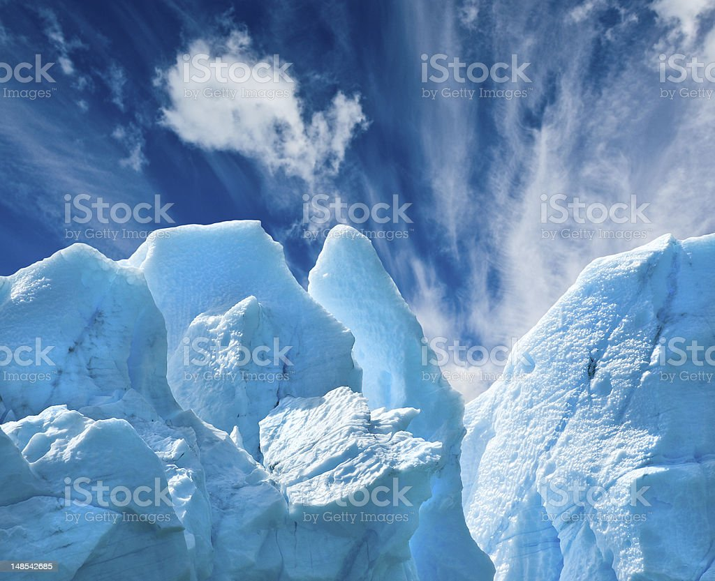 Perito Moreno glacier, patagonia, Argentina. Copy space. royalty-free stock photo