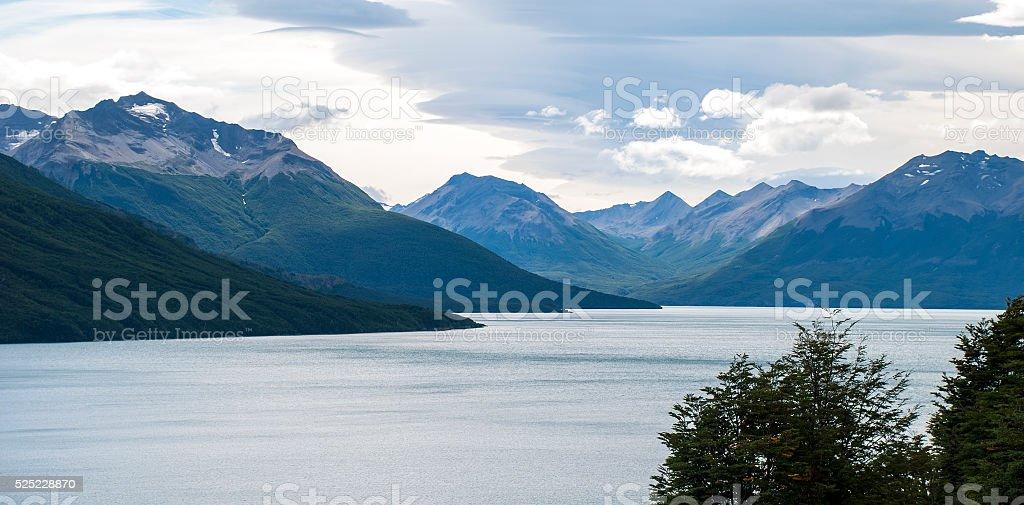 Perito Moreno panorama view stock photo