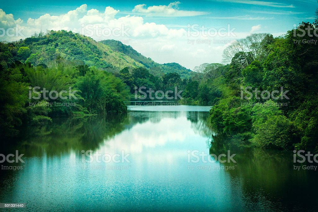 Periyar River in Kerala, India stock photo