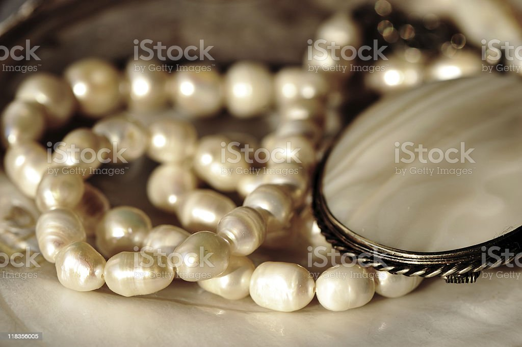 Perl jewerly royalty-free stock photo