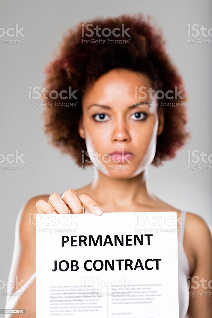 permanent job contract is not for everyone stock photo