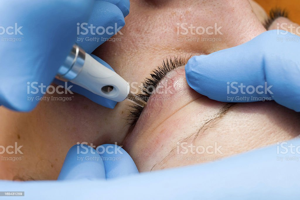 Permanent make-up stock photo