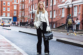 Pernille Teisbaek after J.W. Anderson show during London Fashion Week