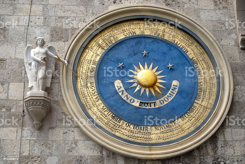 perpetual calendar of the cathedral of Messina stock photo