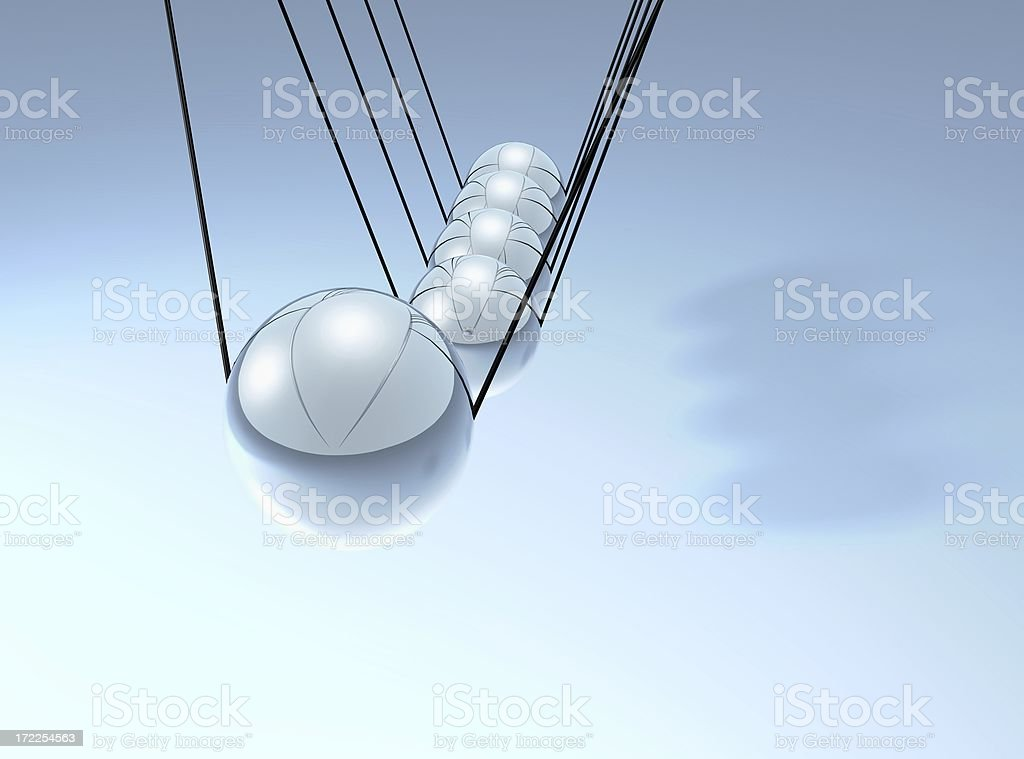 Perpetual motion royalty-free stock photo
