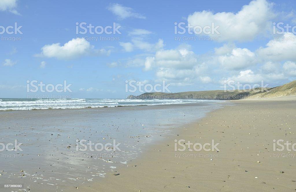 Perran sands beach stock photo