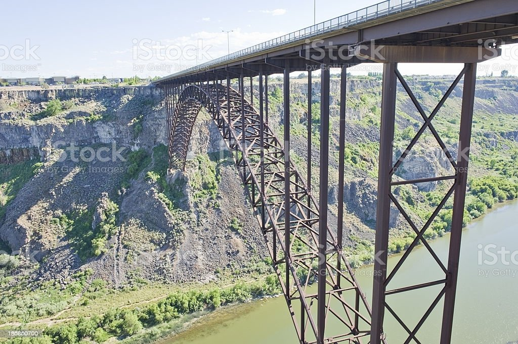 Perrin Memorial Bridge royalty-free stock photo